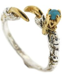 Tessa Metcalfe - Single Claw Ring With Turquoise - Lyst