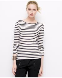 Ann Taylor Faux Leather Elbow Patch Tee - Lyst