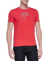 Versace Short Sleeve T-Shirt with Stud Pattern - Lyst