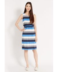 Oasis Block Stripe Midi Dress - Lyst