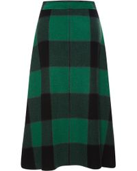 Sea Buffalo Plaid Long Zip Skirt - Lyst