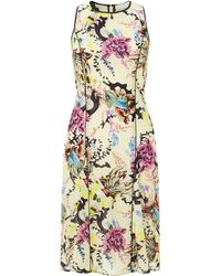 Mary Katrantzou Iris Dress Anthozoa Lemon - Lyst