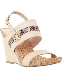 Dune Kimmie Leather Wedge Sandals - For Women - Lyst