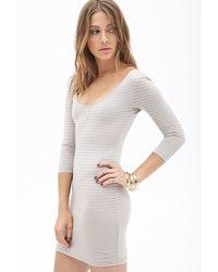 Forever 21 Striped Mini Dress - Lyst