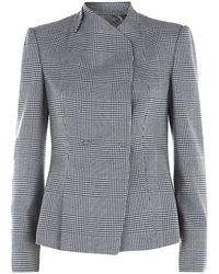 Armani Check Tweed Jacket - Lyst