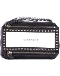 Givenchy White And Black Pandora Clutch Wrist black - Lyst