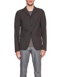 Jil Sander Men'S Evita Deconstructed Single Cotton Jacket - Lyst