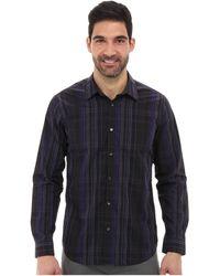 Calvin Klein Yarn Dyed Roadmap Plaid Check Woven Shirt - Lyst