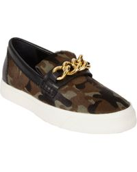 Giuseppe Zanotti Camoprint Haircalf Slipon Sneakers - Lyst