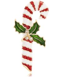 R.j. Graziano - Candy Cane Brooch - Lyst