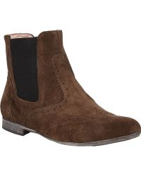 Barneys New York Wingtip Chelsea Boots - Lyst