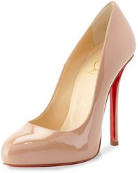 Christian Louboutin Argotik Patent Red Sole Pump - Lyst