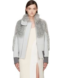 Marc Jacobs Wool and Fur Bomber Jacket - Lyst