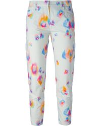 Sonia By Sonia Rykiel Cropped Printed Trousers - Lyst