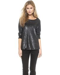 Rachel Zoe Cora Long Sleeve Sequin Top - Lyst