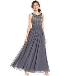 Js Collections Sleeveless Beaded Empire Waist Gown - Lyst