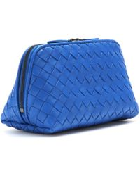 Bottega Veneta Intrecciato Leather Cosmetic Case - Lyst