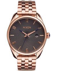 Nixon 'Bullet' Analog Watch pink - Lyst