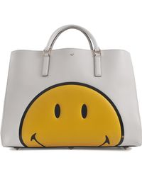 Anya Hindmarch Ebury Maxi Featherweight Smiley Tote - Lyst