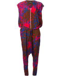 Vivienne Westwood Anglomania Leaf Print Jumpsuit - Lyst