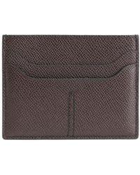 Tod's Pebbled Leather Credit Card Case - Lyst