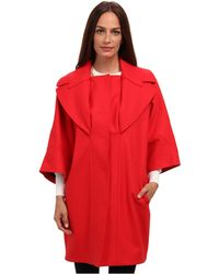 Versace Red Coat - Lyst