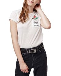 Topshop   'cute But Psycho' Tee   Lyst