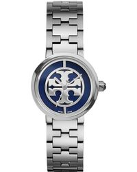 Tory Burch Reva Watch, Stainless Steel/Navy, 28 Mm - Lyst