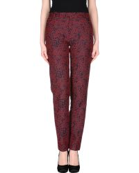 Kenzo Casual Trouser red - Lyst