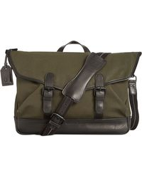 Cole Haan Waxed Canvas Messenger Bag - Lyst