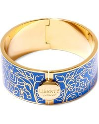 Liberty - Blue Imran Solid Thick Cuff - Lyst