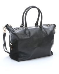 Tod's Black Leather Top Handle Tote - Lyst