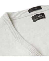 J.Crew Slimfit Vneck Cashmere Sweater - Lyst