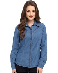Pendleton Petite Fitted Denim Day Shirt - Lyst