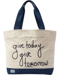 TOMS - Give Today Give Tomorrow Signature Tote Bag - Lyst