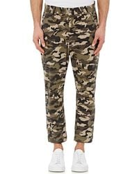 Earnest Sewn | Camouflage Drop-rise Trousers | Lyst