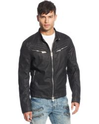 Rogue State - Coated Moto Jacket - Lyst