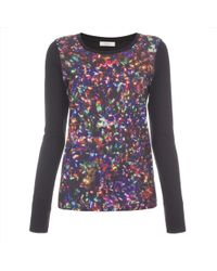 Paul Smith Black Jersey Top With 'Sparkling Lights' Print - Lyst