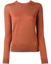 Kenzo Cut Out Collar Sweater - Lyst