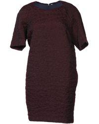 Victoria, Victoria Beckham Purple Short Dress - Lyst