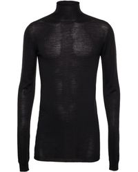 Rick Owens Fine Knit Roll Neck Jumper - Lyst