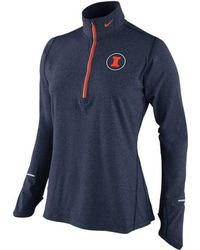Nike  Illinois Fighting Illini Heathered Half Zip Pullover Jacket - Lyst