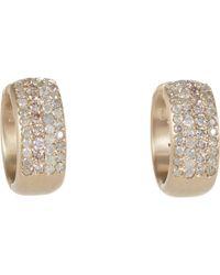 Roberto Marroni - Diamond Hoop Earrings - Lyst
