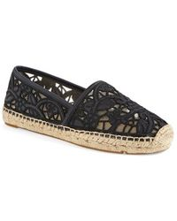 Tory Burch 'Lucia' Lace Espadrille Flat - Lyst