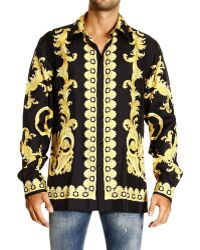 Versace Shirt Regular Placed Barocco Vintage Print - Lyst