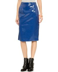 Marc By Marc Jacobs Emi Plastic Skirt  Skipper Blue - Lyst