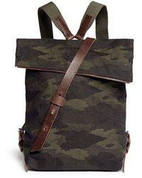 Seventy Eight Percent 'Jurgen' Camouflage Canvas Backpack