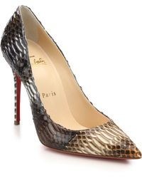 Christian Louboutin Decollete Watersnake Pumps multicolor - Lyst