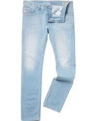 Diesel Thavar Light Wash Slim Fit Jean - Lyst