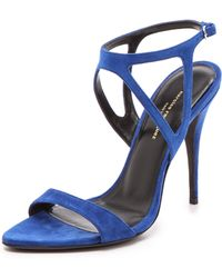 Narciso Rodriguez Carolyn Sandals - Blue - Lyst
